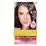 L'Oreal Paris Excellence Hair Colour Kit, Natural Dark Frosted Brown Number 4.15 - Pack of 3