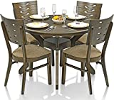 Royal Oak Sydney Dining Set with 4 Chairs (Dark Brown)