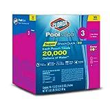 CLOROX Pool&Spa Super Shock Quick 20, 10-Pack Chlorine Shock Bags
