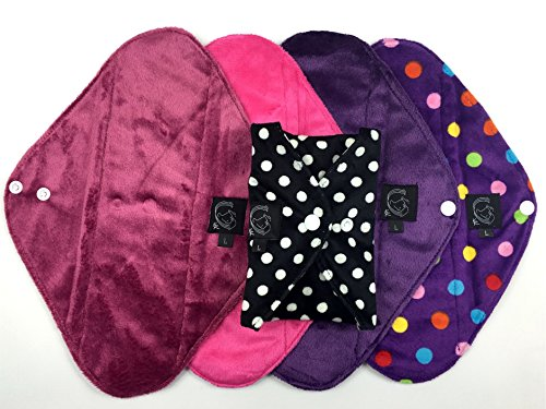 5-pack-pink-collection-heavy-flow-cloth-sanitary-pads-csp-bamboo-charcoal-minkee-minky-washable-reus