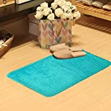 Area Rug,Leegor 50 x 80cm Fluffy Rugs Anti-Skid Shaggy Area Rug Dining Room Home Bedroom Carpet Floor Mat,No Stimulation Non-slip Easy To Clean (Sky Blue)