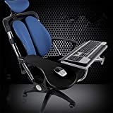 Ergonomic Keyboard Laptop Mouse Stand Mount for Workstation Video Gaming,Installed to Chair or Any Round Bar with Maximum 1.96 inch Diagonal Thickness