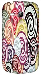 Timpax protective Armor Hard Bumper Back Case Cover. Multicolor printed on 3 Dimensional case with latest & finest graphic design art. Compatible with Samsung S-3Mini - I8190 Galaxy S III mini Design No : TDZ-21897