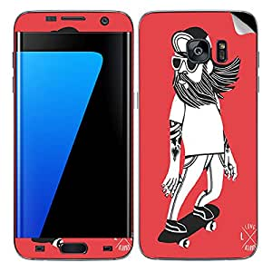 Theskinmantra Skateboarder SKIN/STICKER/DECAL for Samsung Galaxy S7