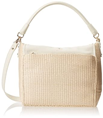 Kate Spade New York Cobble Hill Straw Little Curtis Satchel Pale Natural/Cream One Size