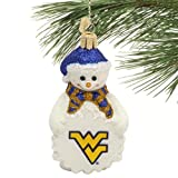 NCAA West Virginia Mountaineers Glass Snowman Ornament at Amazon.com
