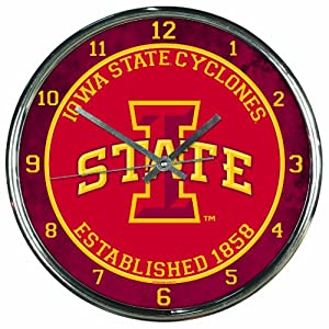 Buy NCAA Iowa State Cyclones Chrome Clock by WinCraft