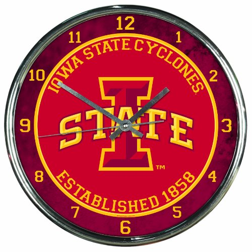 NCAA Iowa State Cyclones Chrome Clock