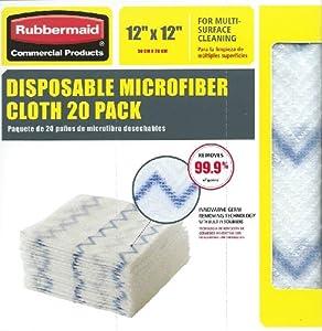 "Rubbermaid Disposable Microfiber Cloth 12"" X 12"" 20 Per Pack (1 Pack)"