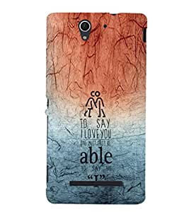 EPICCASE able to say I Mobile Back Case Cover For Sony Xperia C3 (Designer Case)
