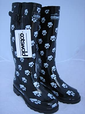 s cotswold 100 rubber wellington boot paw print