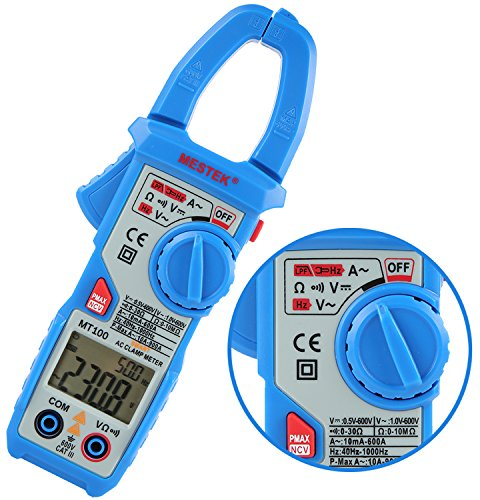 Clamp-meter-Janisa-MT100-Current-Voltage-Meters-Fully-Automatic-Resistance-Capacitance-Tester-Digital-AC-DC-Multimeter-600Amp-5999-Counts-Ammeter-for-Factory-School-Lab-Home-Hobby-Machine-Repairing