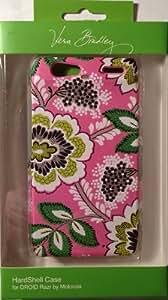 Vera Bradley Priscilla Pink Hardshell Snap-on Case Cover For Motorola Droid RAZR
