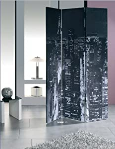 New York City Skyscrapers Skyline 3 Panel Room Divider