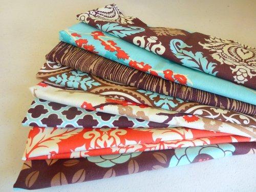 Aviary 2 Saffron Scraps - Scrap Bag Quilt Fabric By Joel Dewberry