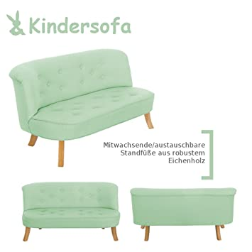Some Bunny 4055168104561Design Bambini divano in lino, verde