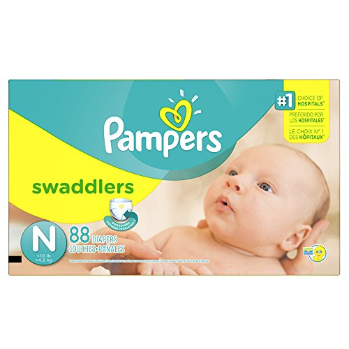 Pampers Swaddlers Diapers Size N Super Pack 88 Count - 1