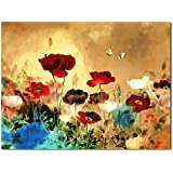 Wieco Art Poppies Canvas Print for Oil Paintings Modern Canvas Wall Art Home Decorations for Living Room
