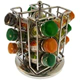 12 Piece Spice Rack carousel with Schwartz spices
