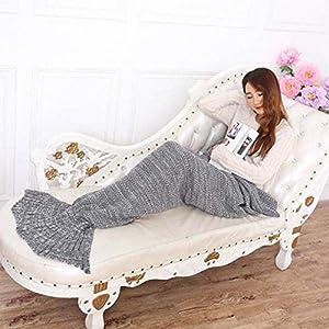 Hughapy® Mermaid Tail Blanket for Teen/ Adult , Christmas Blanket (75