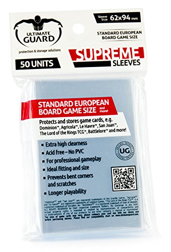 Standard European Game Sleeves (50) - 1