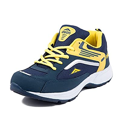 Asian Shoes FUTURE-01 Nevy Blue Yellow Men's Shoe