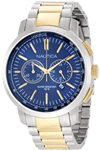 Nautica Men's N23602G Two-Tone Stainless-Steel Quartz Watch with Blue Dial
