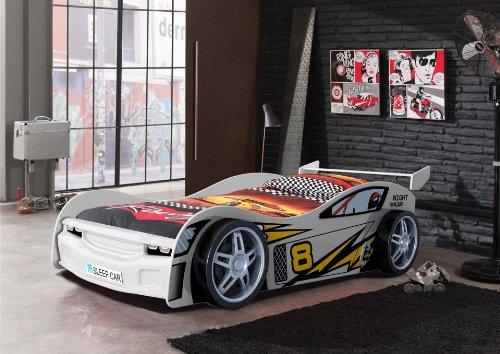 Lit voiture course Swithome Divertilit 90x200 Blanc