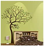 6ft Tree Brown & Green with Bird Wall Decal Deco Art Sticker Mural - This Decal is Created By Digiflare Graphics, Original Product with Quality 100% Guaranteed!!!