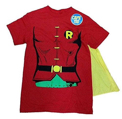 Dc Comics Batman Robin Costume With Cape Graphic T-Shirt - Medium