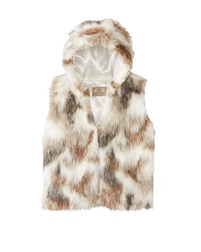 Joyfolie Girl's Zoe Faux Fur Vest  [Cream/Tan]