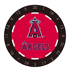 MLB Anaheim Angels Bristle Dart Board With Darts And Flights by Imperial