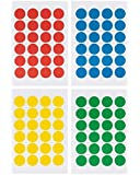 "Pack of 2016 Round Color Coding Dot Labels, Multicolored, Red, Blue, Yellow, Green, Pack of 2016, 0.75 Inches, 4"" X 6"" Sheet, Same As Avery 5472"