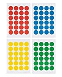 "Pack of 2016 Round Color Coding Dot Labels, Multicolored, Red, Blue, Yellow, Green, Pack of 2016, 0.75 Inches, 4"" X 6"" Sheet, Same As Avery 5472 (Multicolored)"