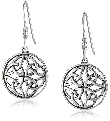 Celtic-Knot Round Drop Earrings image