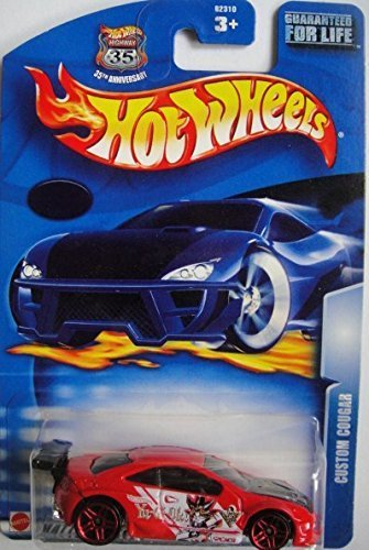 HOT WHEELS LIMITED EDITION YU-GI-OH! RED CUSTOM COUGAR DIE-CAST