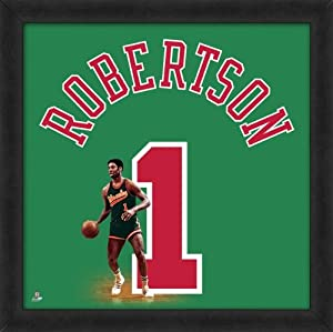 Oscar Robertson Milwaukee Bucks Uniframe Framed Jersey Photo 20x20