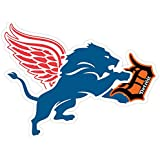 "DETROIT Red Wings Lions Tigers Fan Sport Logo 4""x5"" Sticker Decal Vinyl"