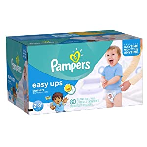 Pampers Easy Ups Boys, Super Pack,Size 2T3T, 80 Count