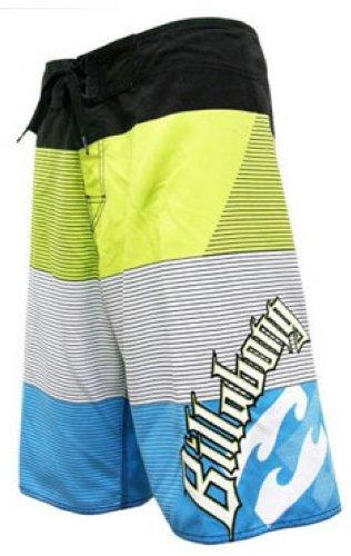Billabong 'Blokka' Mens Boardshorts Sz 32 Lime