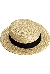 Straw Skimmer Hat - Adult Std.