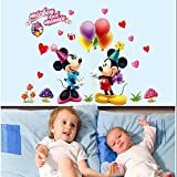 DIY Home Decor Art Removable Wall Stickers Disney Mickey Mouse Wall Decals #75