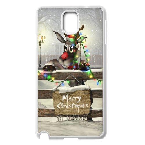 Samsung Galaxy Note 3 N9000 Christmas Deer Phone Back Case Diy Art Print Design Hard Shell Protection Aq084088