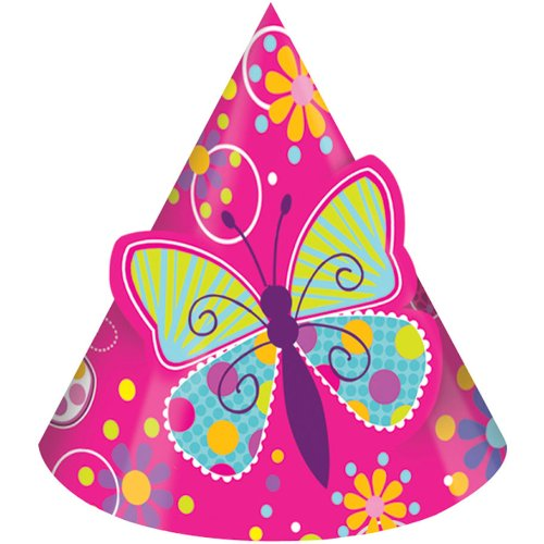 Butterfly Sparkle Party Hats - 1
