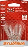 Sylvania 7443 LL Long Life Miniature Lamp, (Pack of 2)