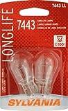 Sylvania 7443 LL Long Life Miniature Lamp, (Pack of 2)