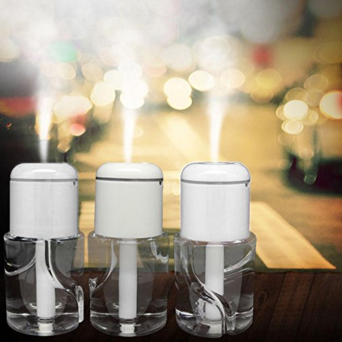 BeQool Mini Car USB Humidifier Bottle Cap Humidifier Portable Design Cool Mist Humidifier for Office,Home,Travel (Bottle Included) (white) (Usb Water Bottle Cap Humidifier compare prices)