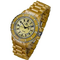 Oniss Ladies Citrine High Tech Ceramic Dress Watch Mother of Pearl Dial