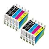 Generic Compatible Ink Cartridges Replacement for Epson T060 (4xBlack, 2xCyan, 2xMagenta, 2xYellow, 10-Pack) ~ Generic