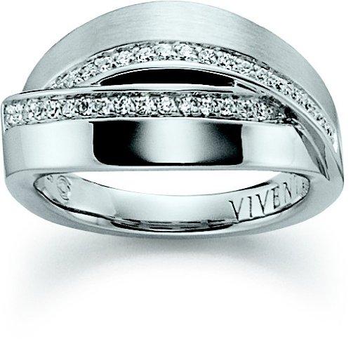 Viventy Women's Ring Silver Zirconia 764241 / 54